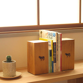 COW BOOKS - Bookends - Tall [made by Landscape Products]