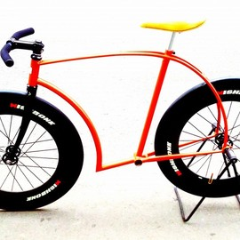Krupisvello Bicycle - asphalt razor blade / Single speed/fixed gear bike