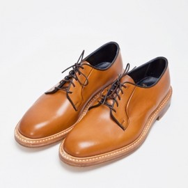 Tricker's - Burnished Derby Shoe Leather Amber