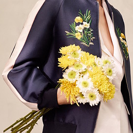 STELLA McCARTNEY - Stella McCartney Lorinda Floral Embroidered Bomber Jacket