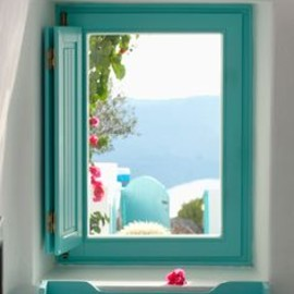 Santorini, Greece - window