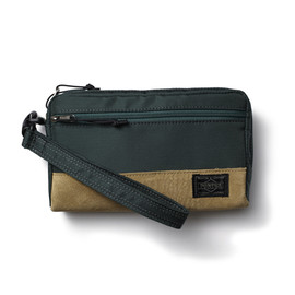 "HEAD PORTER - ""JACKSON"" WALLET POUCH GREEN"