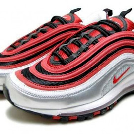 Nike - Nike Air Max 97   Metallic Silver   Varsity Red