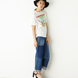 moussy - Patching roll up denim