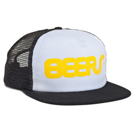 HUF - BEERS TRUCKER SNAP BACK WHITE