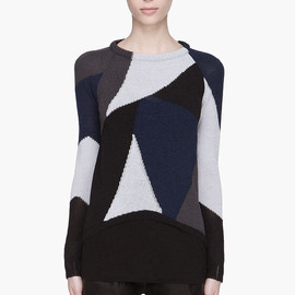 DAMIR DOMA - Blue combo Kemi Knitted Sweater