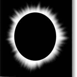 Fine Art America - Solar Eclipse With Corona Metal Print By Don Farrall