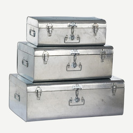 THE CONRAN SHOP - GALVANISED TRUNK Set of 3