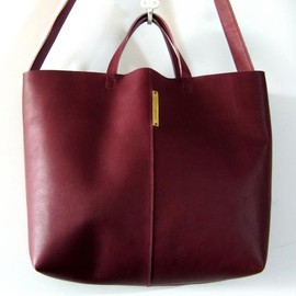 yucchino - OTONA eco-bag shoulder bordeaux