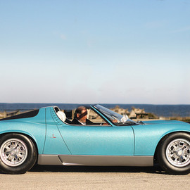 Lamborghini - The ONLY official Miura Roadster, with Valentino Balboni behind the wheel!