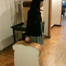 sliced bread suitcase