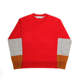 bal - TRI COLOR C-NECK SWEATER