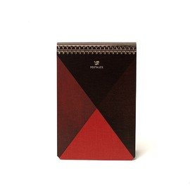 POSTALCO - Fabric Cover Notebook-Limited Edition  ruby notebook