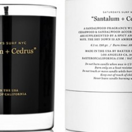 Baxter of California line and Saturdays Surf NYC - SANTALUM + CEDRUS CANDLE
