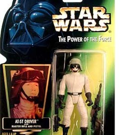 kenner - STAR WARS: Power of the Force Green Card > AT-ST Driver Action Figure