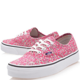 Vans x Liberty Art Fabrics - Pink Leaves Liberty Print Authentic Trainers