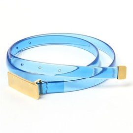 mame - vinyl belt in blue