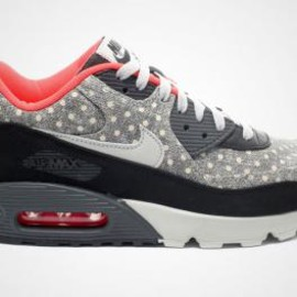 Nike - Nike Air Max 90 Leather Premium Black/Granite-Anthracite_Bright Crimson