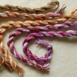 Luulla - Perle Fine, Pink, Sand, Taupe, 5 pack, Yarn, Serendipity, Mixed Media, Textile Art, Fiber Art, Hand dyed in the UK