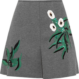 MARNI - Sequined bonded-jersey mini skirt