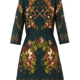 DOLCE&GABBANA - FW2014 Printed matelassé mini dress