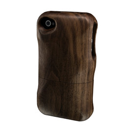 Real Wood Case for iPhone4 / くるみ 彫なし
