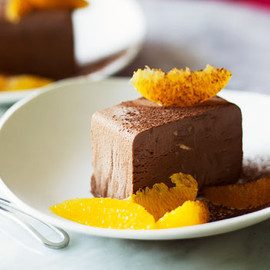 Australian - Chocolate parfait with orange salad