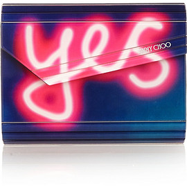 JIMMY CHOO - Candy acrylic and leather clutch