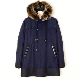ANALOG LIGHTING - Army Coat Inner Boa with Fur  Navy
