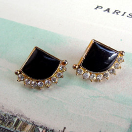 Art Deco - Enamel Earring