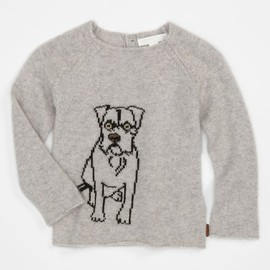 Burberry - Kids Cashmere Puppy Sweater