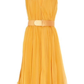 Alexander McQueen - Belted silk-chiffon dress