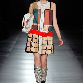 Prada - Fall Winter 2011 Runway plaid dress