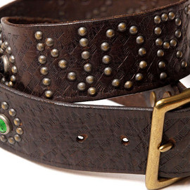 "RRL - ""NORTHWEST"" Studs Belt"