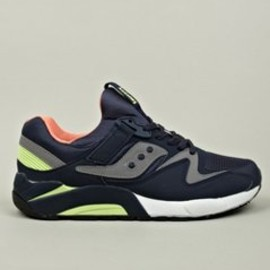 SAUCONY - Men's Navy Grid 9000 Sneakers