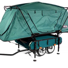 Kamp-Rite  - Midget Bushtrekka Bicycle Camper Trailer with Oversize Tent Cot