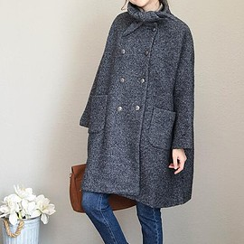 Wool long Coat - Winter Coat, Wool Coat for Women, Double breasted Wool long Coat