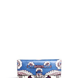 VALENTINO - SS2015 Tropical floral print leather clutch