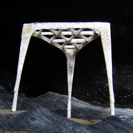 Max Lamb - Pewter Stool