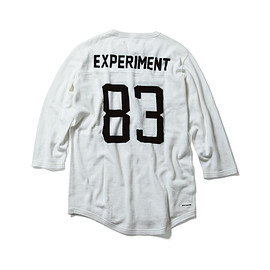 uniform experiment - NUMBERING MESH 3/4 SLEEVE KNIT