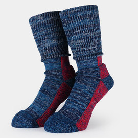 RFW, CHUP - HEATHER SOCKS(by THE CRADTSMAN CHUP) Navy×Red