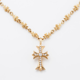 chrome hearts - CH 22K GoldCross with Pave Diamonds