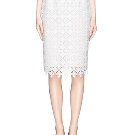 ERDEM - Aysha diamond lace pencil skirt