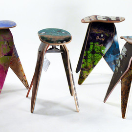 deckstool - recycled skateboard stool