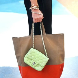 CHANEL and CELINE - mint green