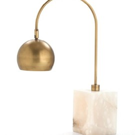 Brass and Marble Adjustable Desk Lamp
