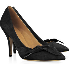 Isabel Marant - Poppy bow-embellished suede pumps - Black