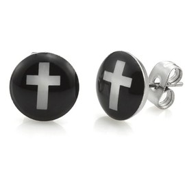 R&B Jewelry - Cross Stud Earrings