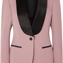 TOM FORD - FW2018 Silk-trimmed wool blazer