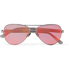 Westward Leaning - Concorde 14 aviator-style acetate and gunmetal-tone mirrored sunglasses
